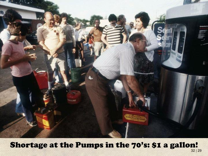 Shortage at the Pumps in the 70's: $1 a gallon!