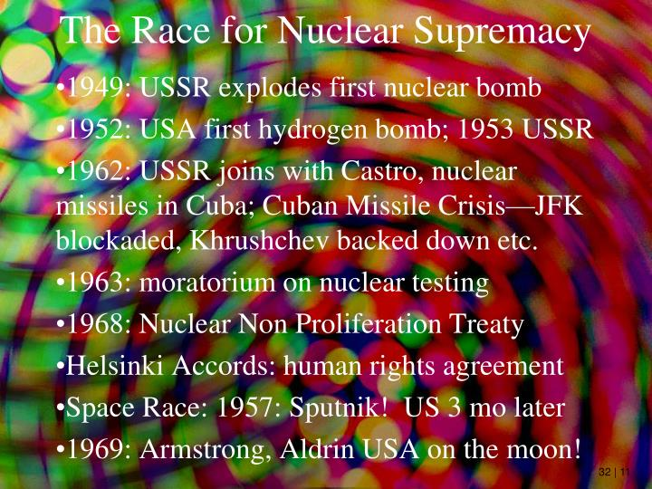 The Race for Nuclear Supremacy