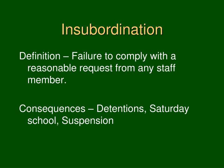 Insubordination