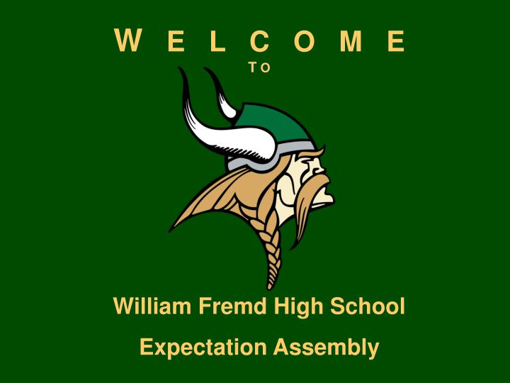 William fremd high school expectation assembly
