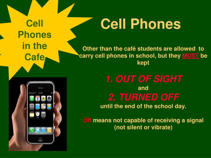 Cell Phones in the Cafe