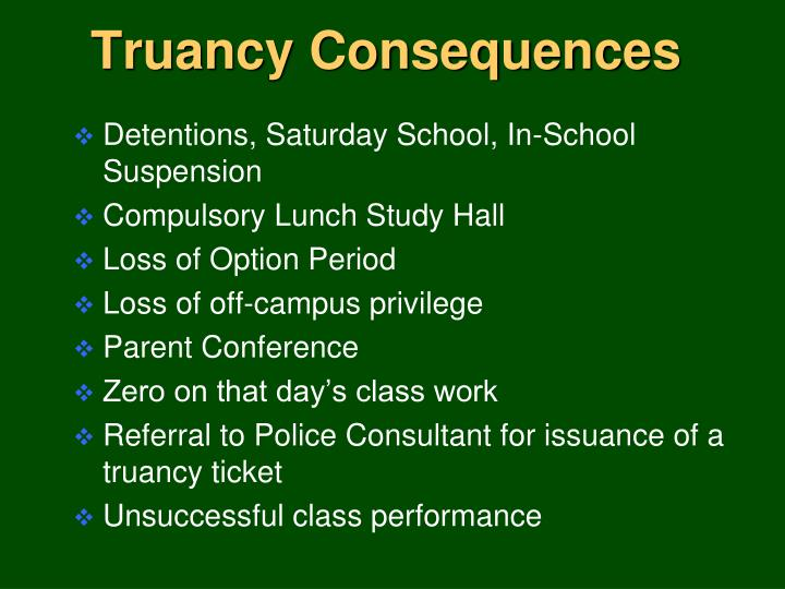 Truancy Consequences