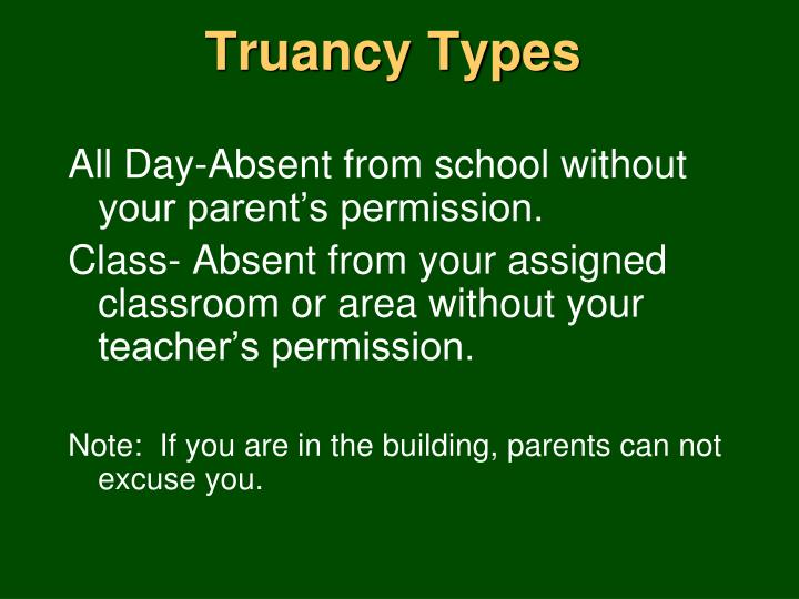 Truancy Types