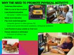 why the need to promote physical activity