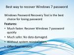 best way to recover windows 7 password
