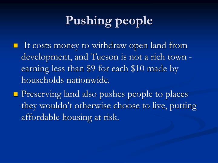 Pushing people