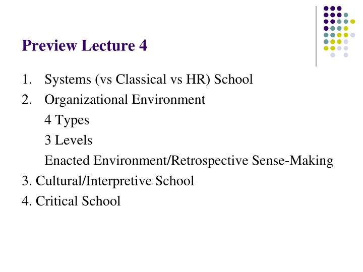 Preview Lecture 4