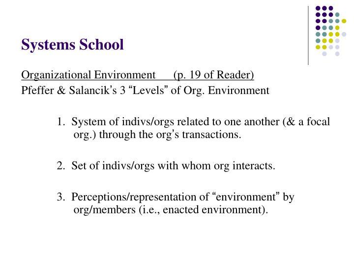 Systems School
