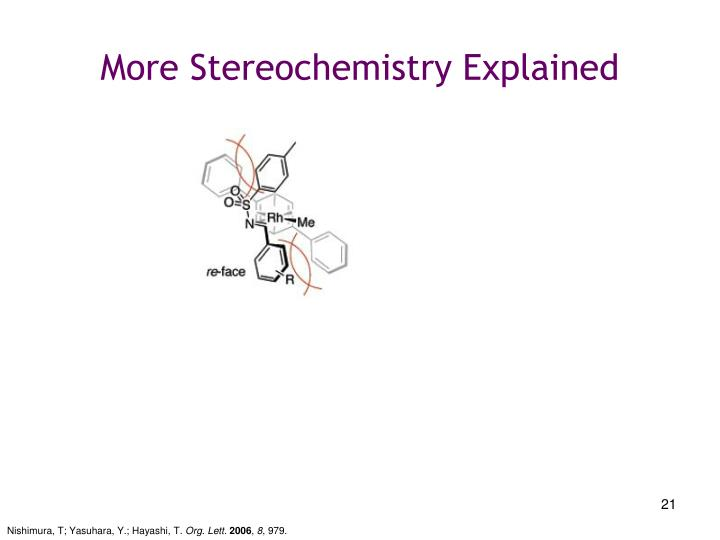 More Stereochemistry Explained