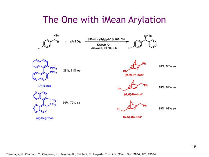 The One with iMean Arylation