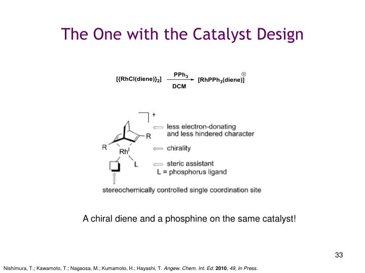 The One with the Catalyst Design