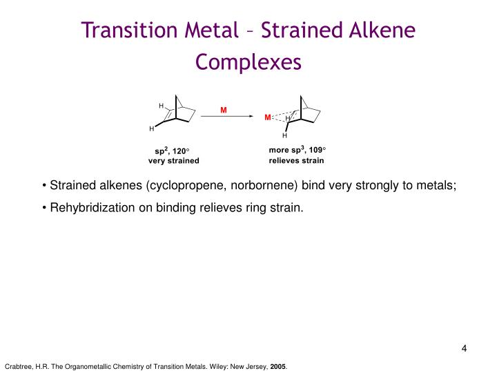 Transition Metal – Strained Alkene Complexes