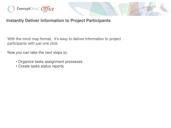 Instantly Deliver Information to Project Participants