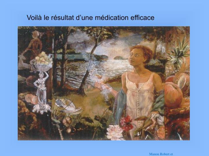 Voilà le résultat d'une médication efficace