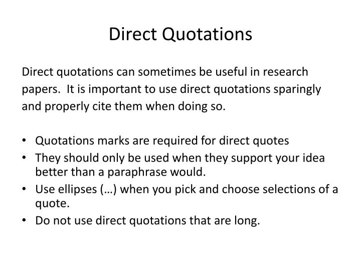 Direct Quotations