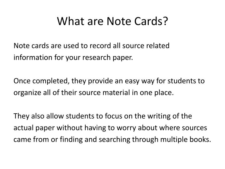 What are note cards