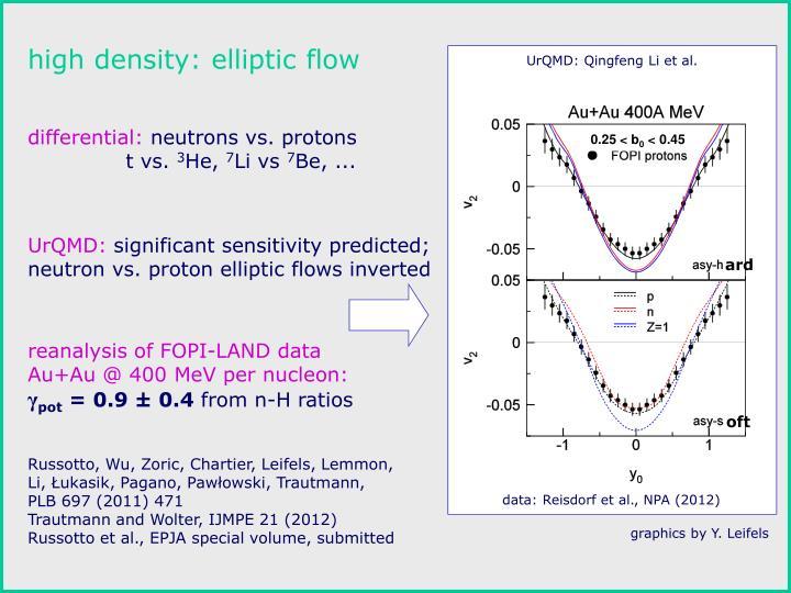 high density: elliptic flow