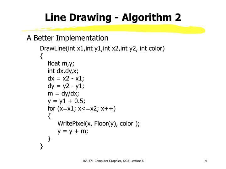 Line Drawing - Algorithm 2