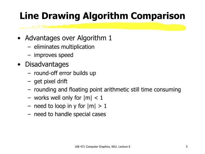 Line Drawing Algorithm Comparison