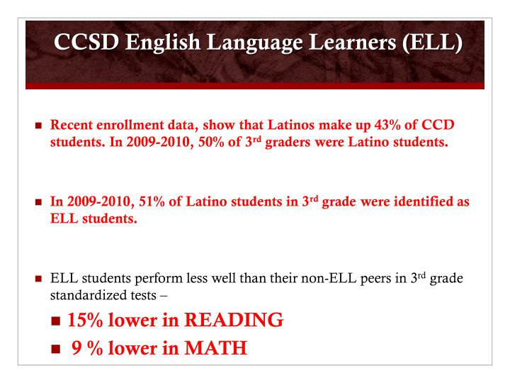 CCSD English Language Learners (ELL)