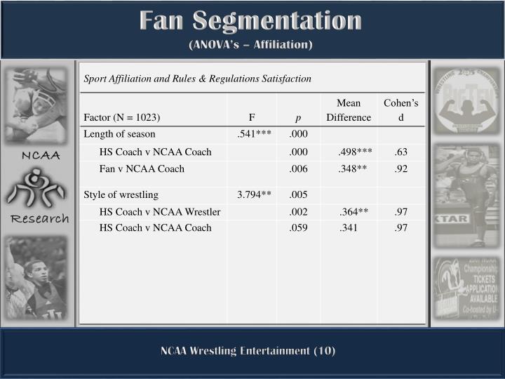 Fan Segmentation