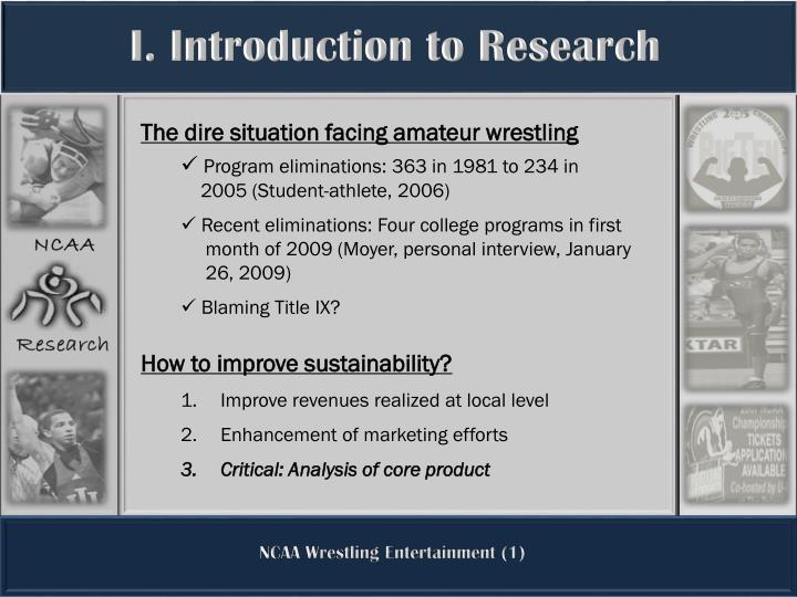 I. Introduction to Research