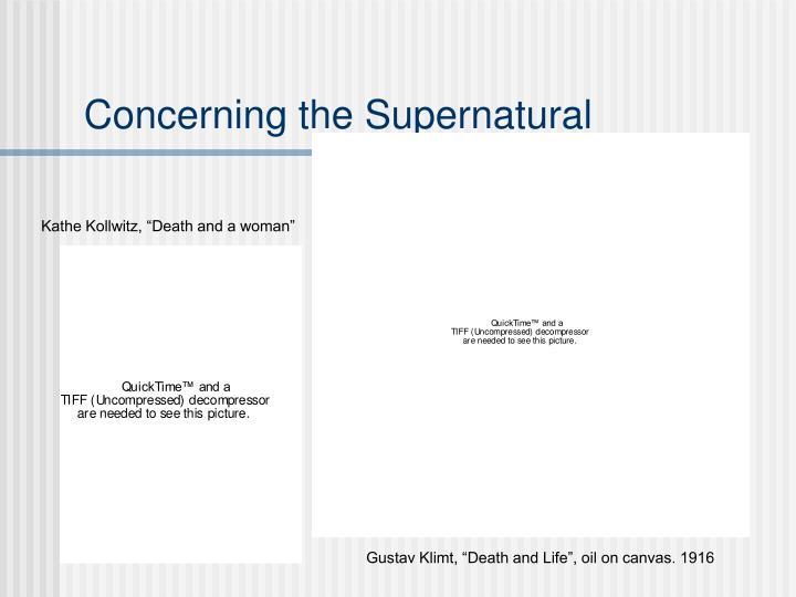 Concerning the Supernatural