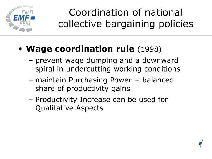 Wage coordination rule