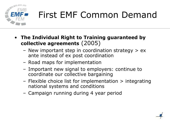 The Individual Right to Training guaranteed by collective agreements