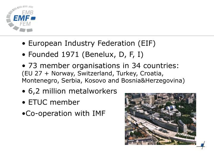European Industry Federation (EIF)