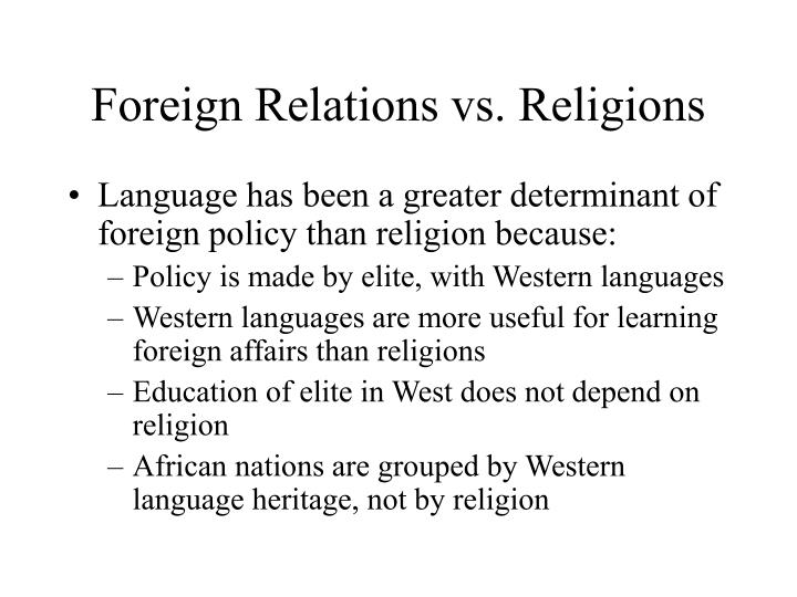 Foreign Relations vs. Religions