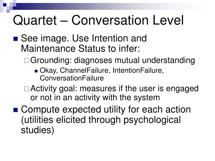 Quartet – Conversation Level