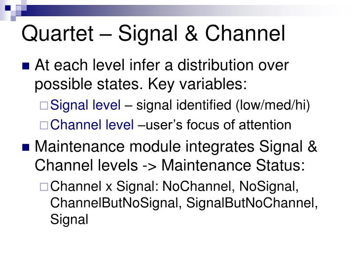 Quartet – Signal & Channel