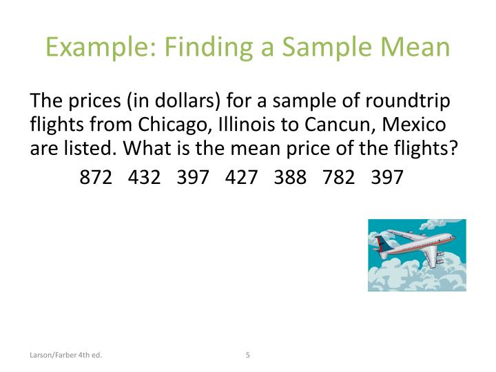 Example: Finding a Sample Mean