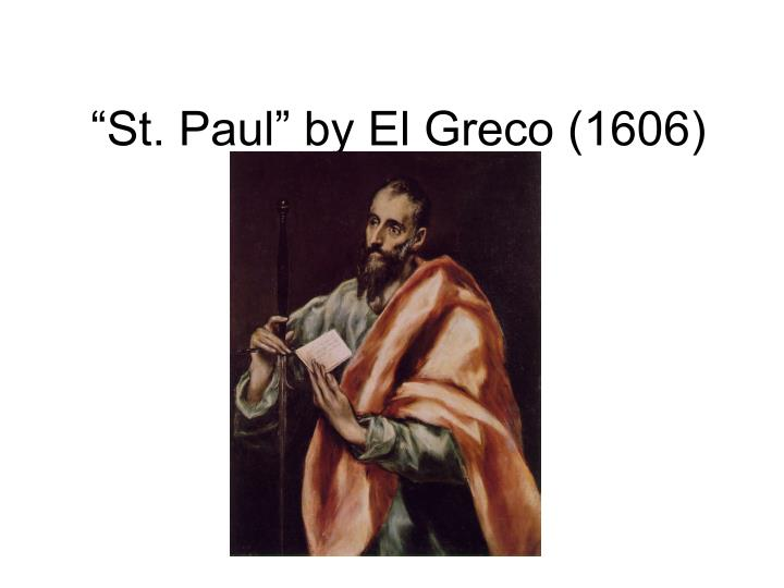 """St. Paul"" by El Greco (1606)"