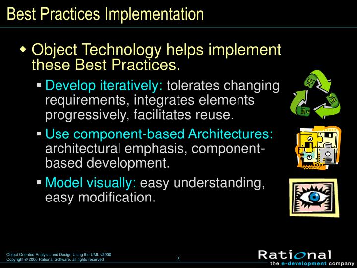 Best practices implementation