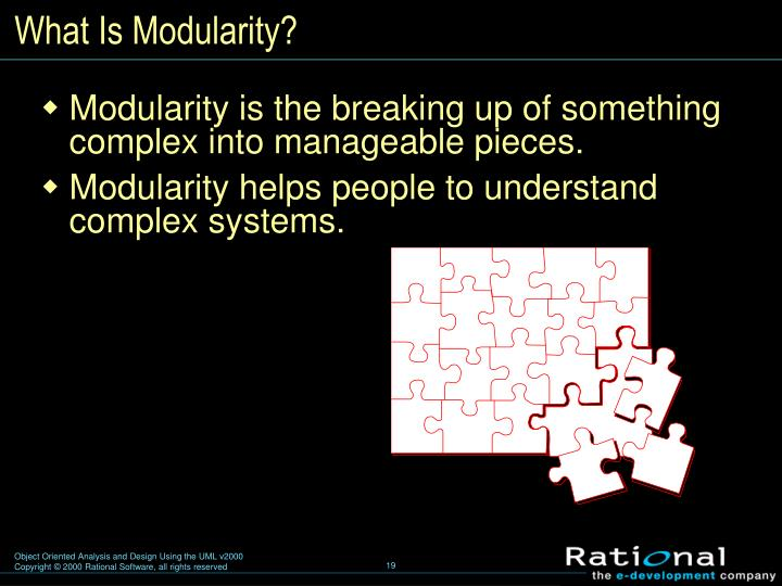 What Is Modularity?