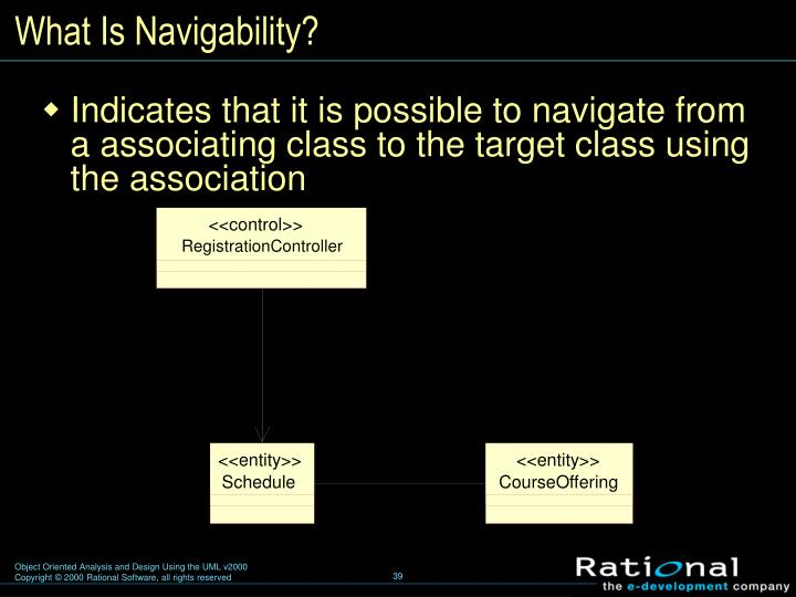 What Is Navigability?