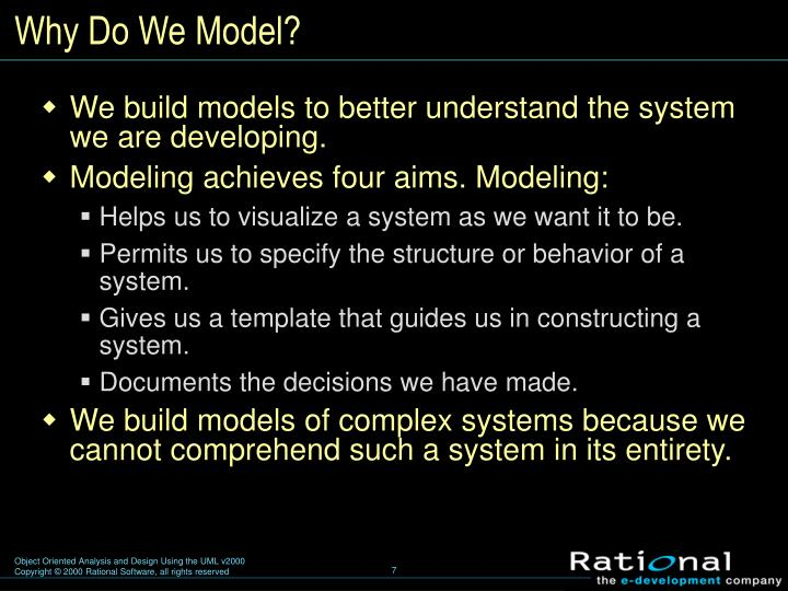 Why Do We Model?