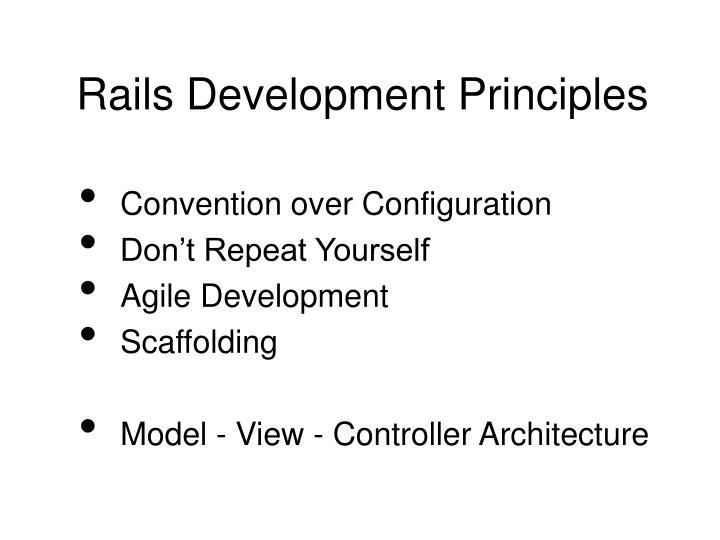 Rails Development Principles
