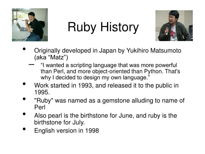 Ruby History