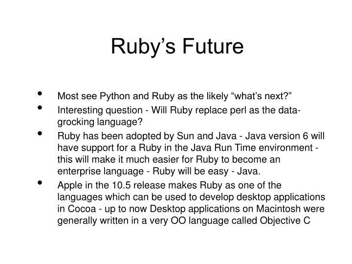 Ruby's Future