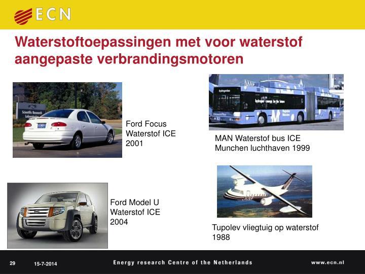 Waterstoftoepassingen met voor waterstof aangepaste verbrandingsmotoren