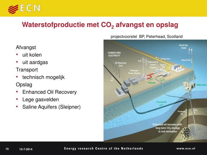 Waterstofproductie met CO