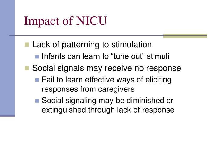Impact of NICU