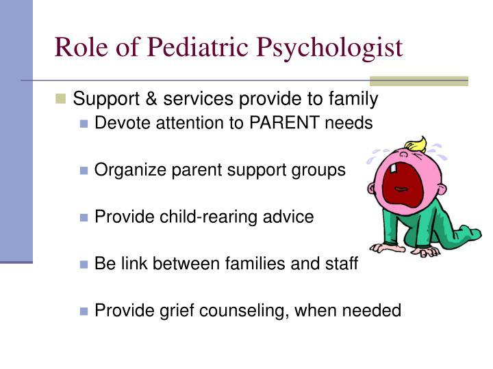Role of Pediatric Psychologist