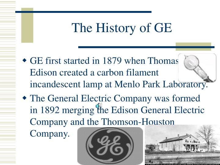 The History of GE