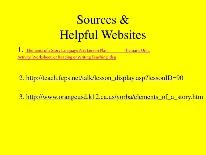 Sources &