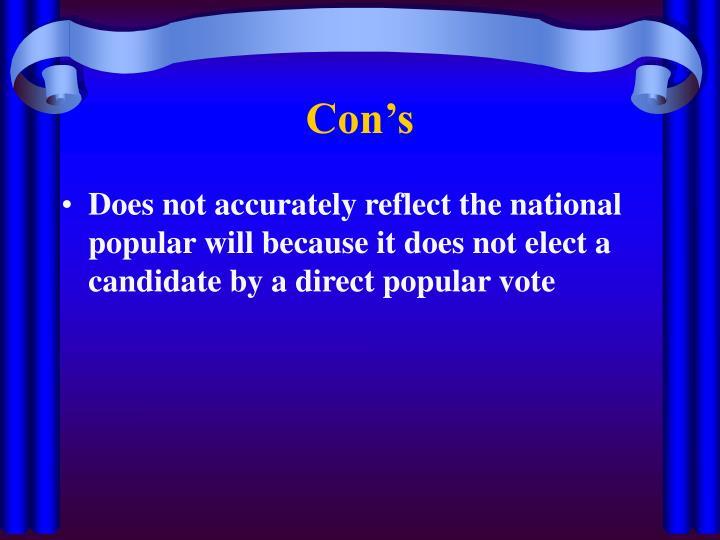 Con's