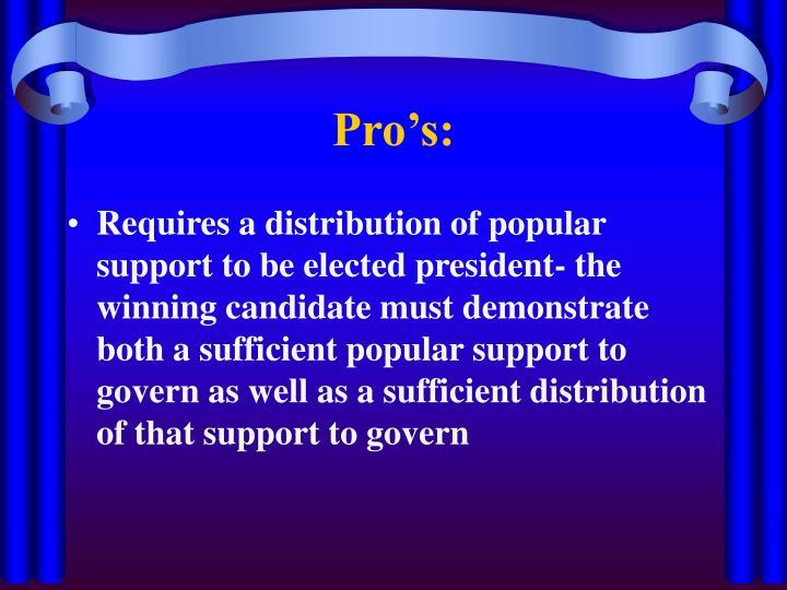 Pro's: